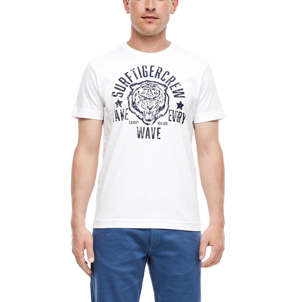 T-Shirt mit Retro-Print - Jerseyshirt