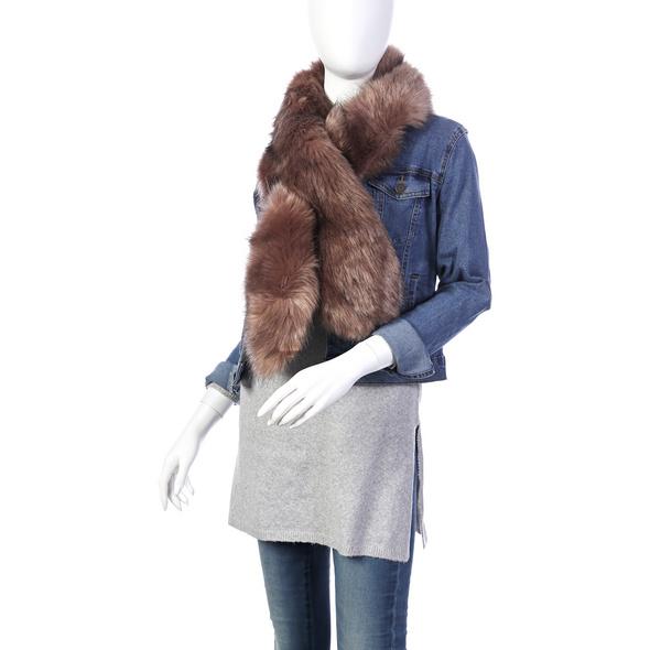 Schal - Brown Fur