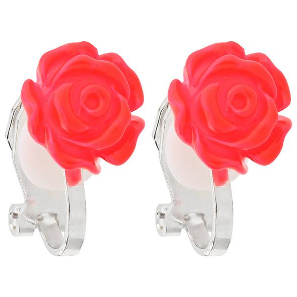 Kinder Ohrclips - Pink Rose