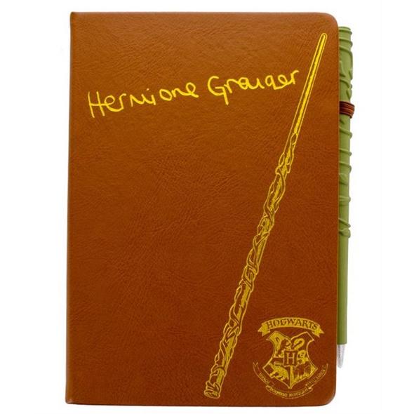 Harry Potter - Notizbuch Hermine und Zauberstab Stift