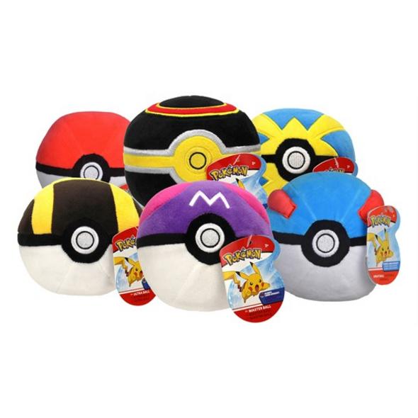 Pokémon - Plüschfigur Pokéball (zufällige Auswahl)
