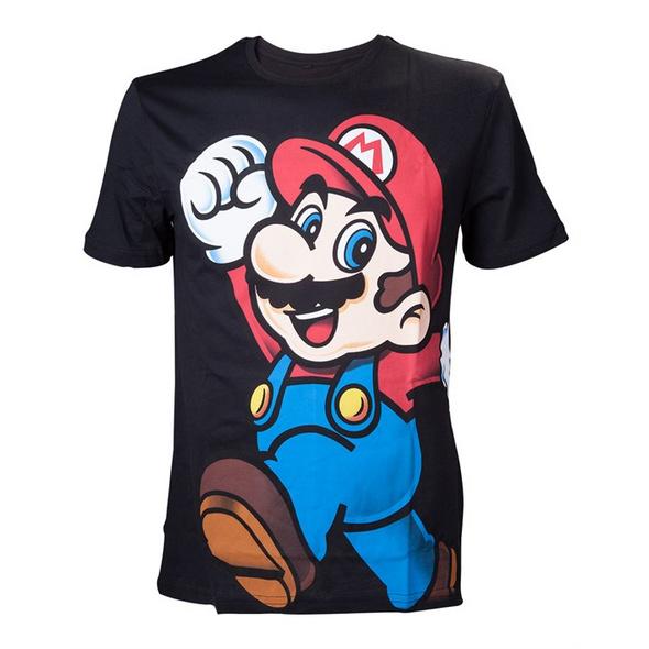 Super Mario - T-Shirt schwarz (Größe M)