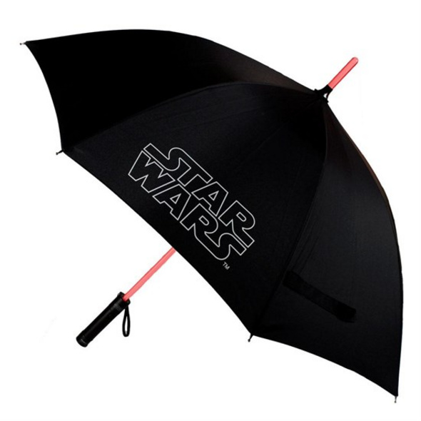 Star Wars - Regenschirm Lichtschwert mit Leuchtfunktion