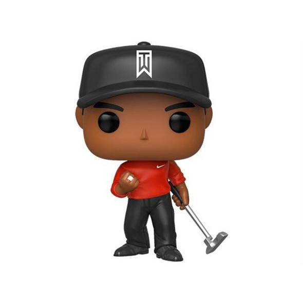 Tiger Woods - POP!-Vinyl Figur Rotes Shirt