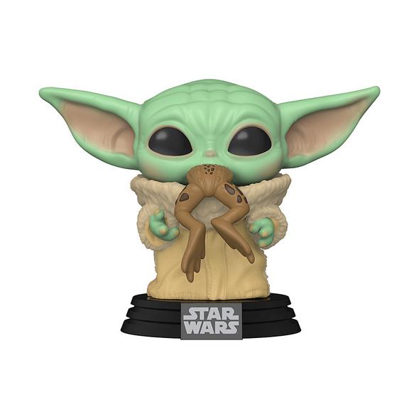 Star Wars - POP!-Vinyl Figur Baby Yoda mit Frosch