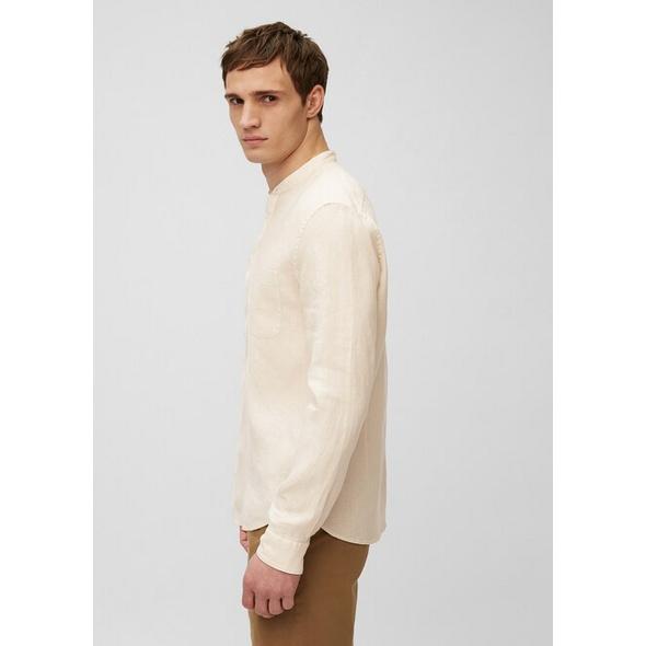 Langarm-Stehkragen-Hemd shaped