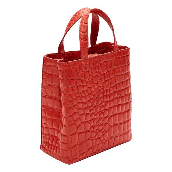 Tragetasche mit Krokoprägung - Paper Bag Kroko Tote S