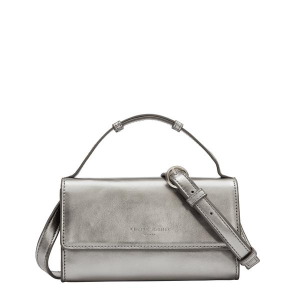 Crossbody Bag aus Metallic-Leder - Basic Crossbody XS
