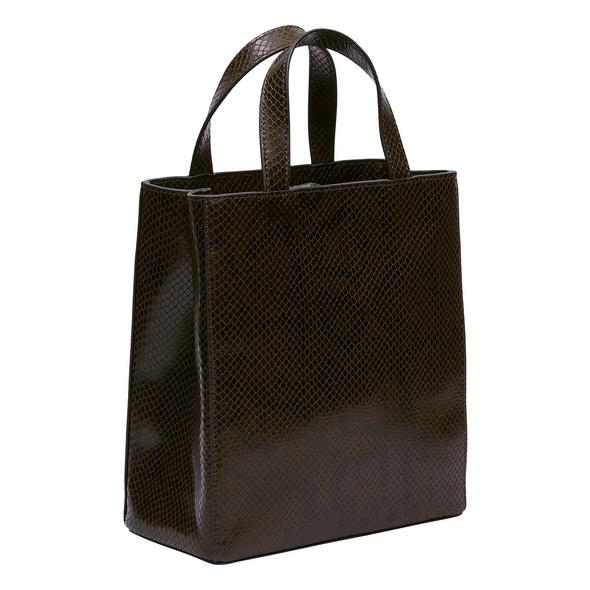 Handtasche in Schlangenoptik - Snake Paper Bag Tote S