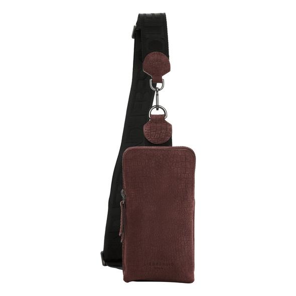 Sling Bag mit Eidechsenprägung - Suede Lizard Sling Bag