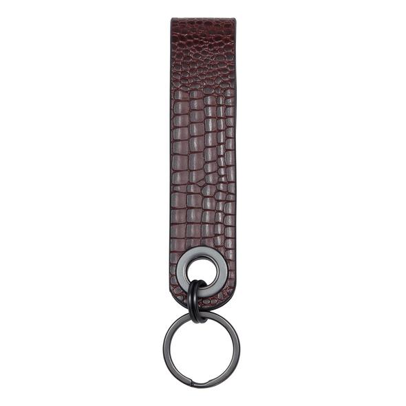 Schlüsselanhänger aus Leder mit Reptilhautprägung - Meryl Lizard Keyring