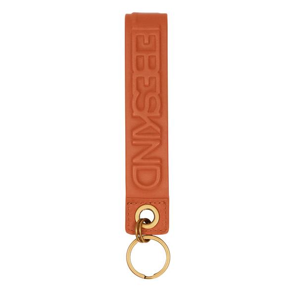 Schlüsselanhänger aus Leder mit aufgeprägtem Logomonogramm - Hannah Keyring