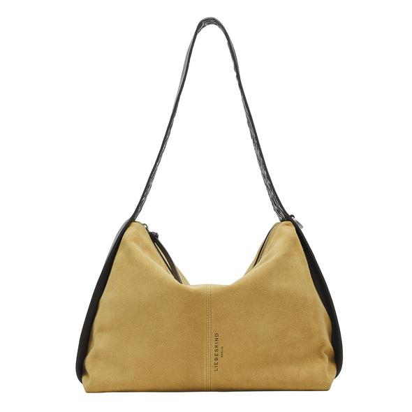 Wildleder Tasche mit indirekter Logoprägung - Turlington Hobo L