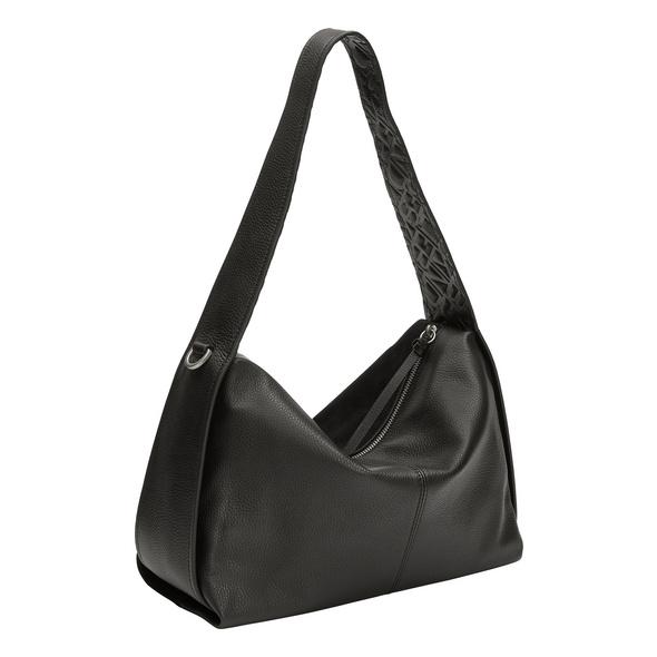 Wildleder Tasche mit indirekter Logoprägung - Turlington Hobo M