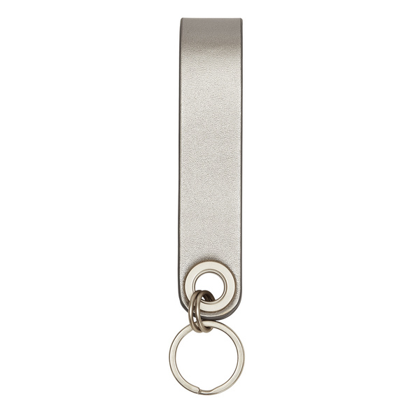 Leder Schlüsselanhänger in Metallic - Metallic Keyring
