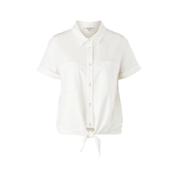 Jerseyshirt mit Knotendetail - T-Shirt