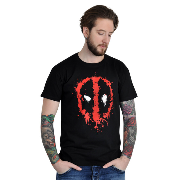 Deadpool - Splatter T-Shirt schwarz