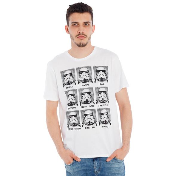 Star Wars - Stormtrooper Multiface T-Shirt weiß