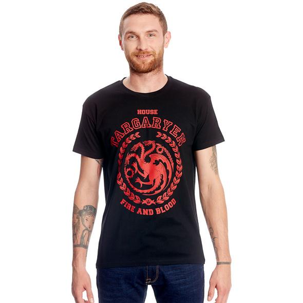 Game of Thrones - Targaryen Wappen T-Shirt schwarz
