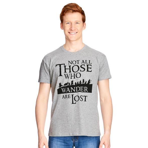 Herr der Ringe - Gefährten T-Shirt grau