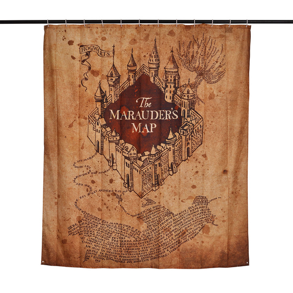 Harry Potter - Karte des Rumtreibers Duschvorhang