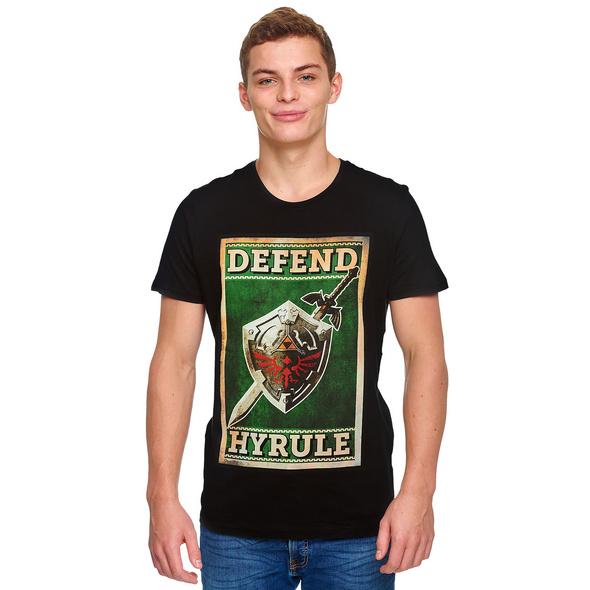 Zelda - Defend Hyrule Propaganda Poster T-Shirt schwarz