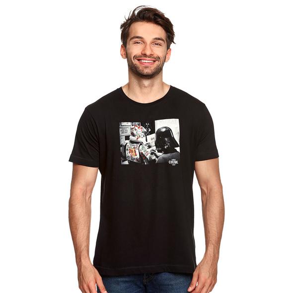 Dark Side Tattoo T-Shirt für Star Wars Fans schwarz