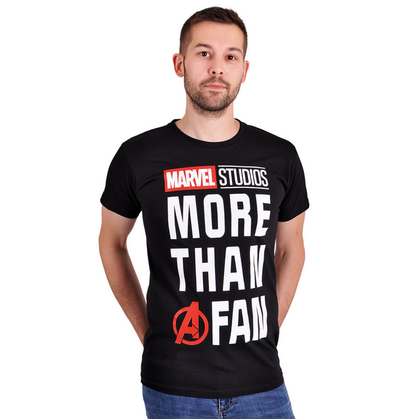 Marvel - More Than a Fan T-Shirt schwarz