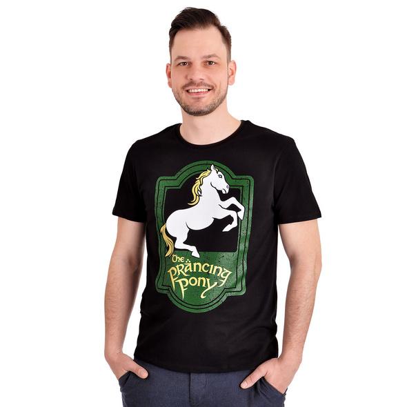 Herr der Ringe - Zum Tänzelnden Pony Logo T-Shirt schwarz