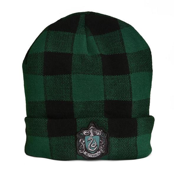 Harry Potter - Slytherin Wappen Karo Mütze