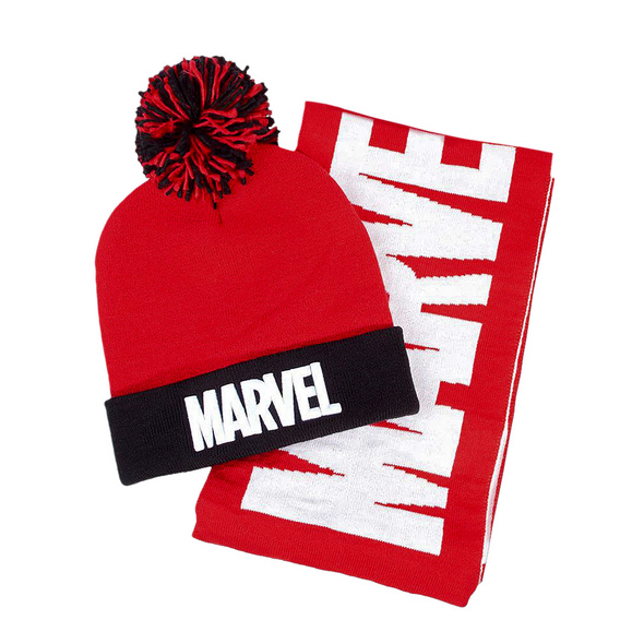 Marvel Mütze und Schal Geschenk Set