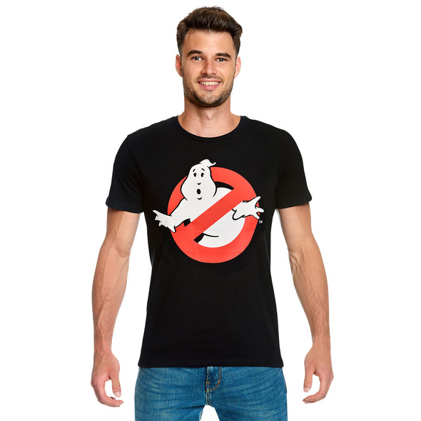 Ghostbusters - Logo T-Shirt schwarz