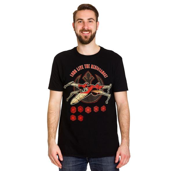 Star Wars - Long Live The Resistance T-Shirt schwarz