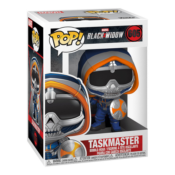 Black Widow - Taskmaster mit Schild Funko Pop Wackelkopf-Figur