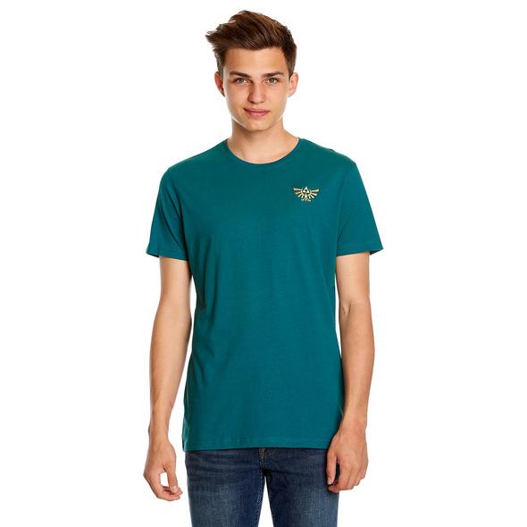 Zelda - Link mit Wolf-Link T-Shirt türkis