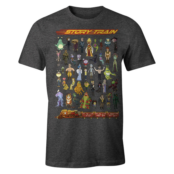 Rick and Morty - Story Train T-Shirt grau