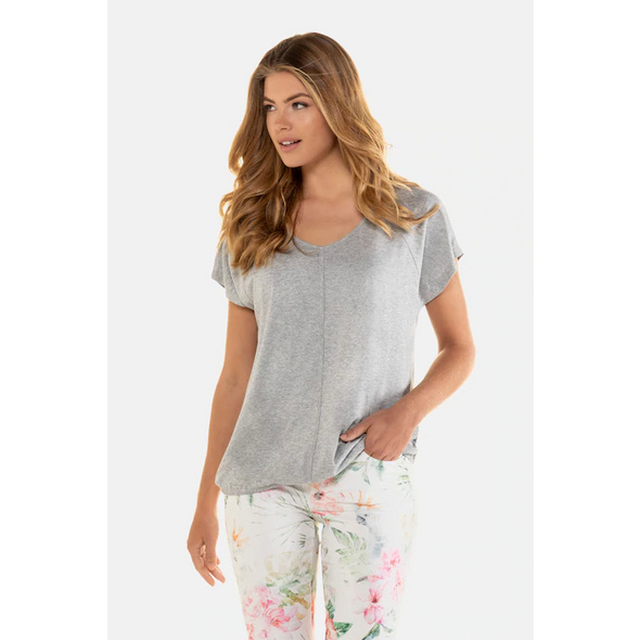 Gina Laura T-Shirt, oversized, Paspel vorne
