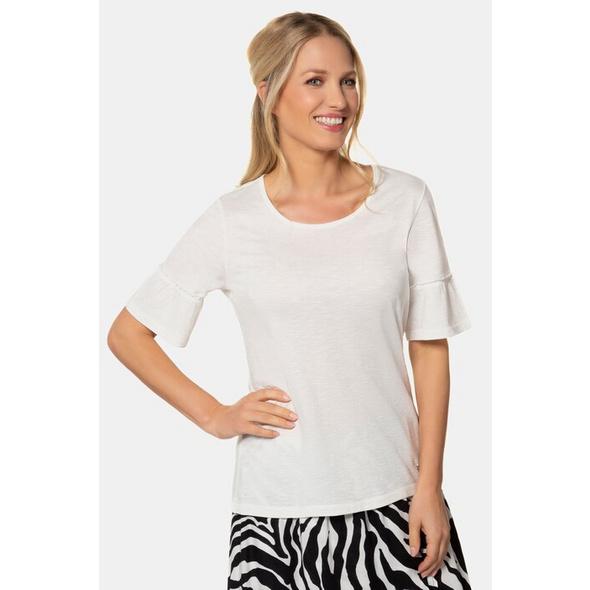 Gina Laura T-Shirt, Volantärmel, Flammjersey