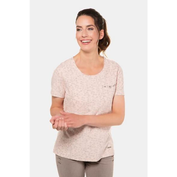 Gina Laura T-Shirt, Blätterdruck innen, Flammjersey