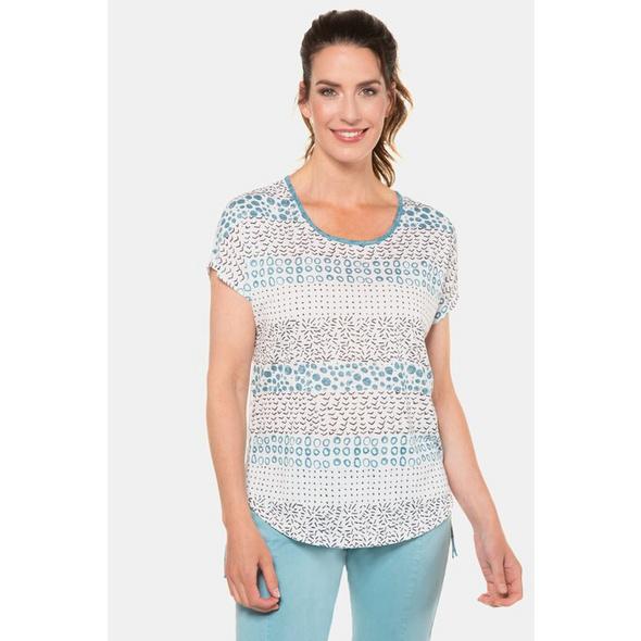 Gina Laura T-Shirt, Mustermix, Oversized, Saumbänder