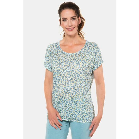Gina Laura T-Shirt, grafisches Muster, Oversized, Nacken-Schlitz