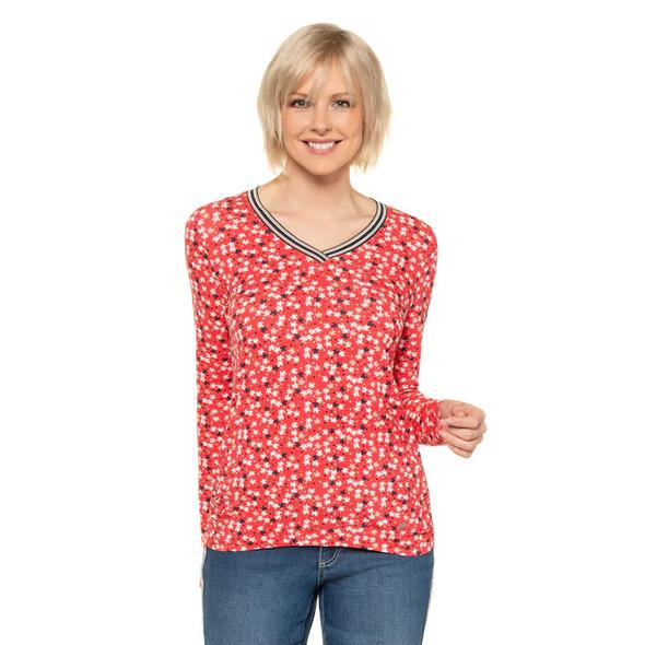 Gina Laura Shirt, Schildkröten-Muster, Saumraffung