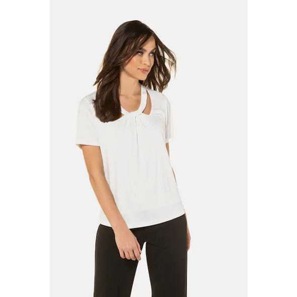 Gina Laura T-Shirt, drapierter Ausschnitt, Halbarm