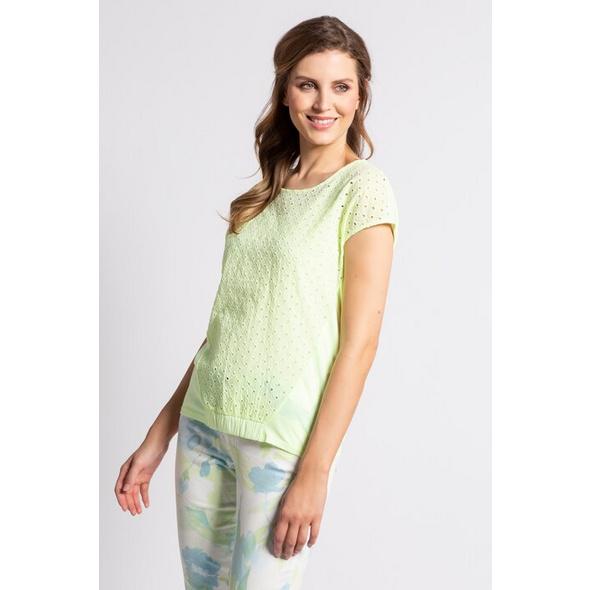 Gina Laura T-Shirt, Lochstickerei, Gummisaum, Oversized