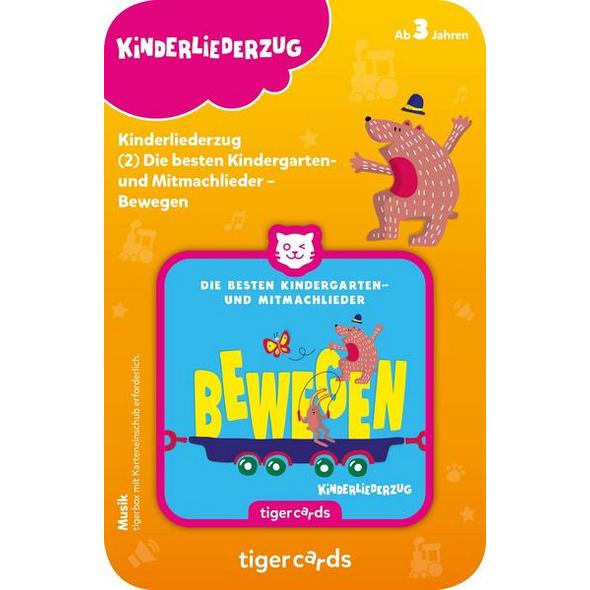 Tigercard - Kinderliederzug - Folge 1: Die besten Kindergarten- und Mitmachlieder - Bewegen