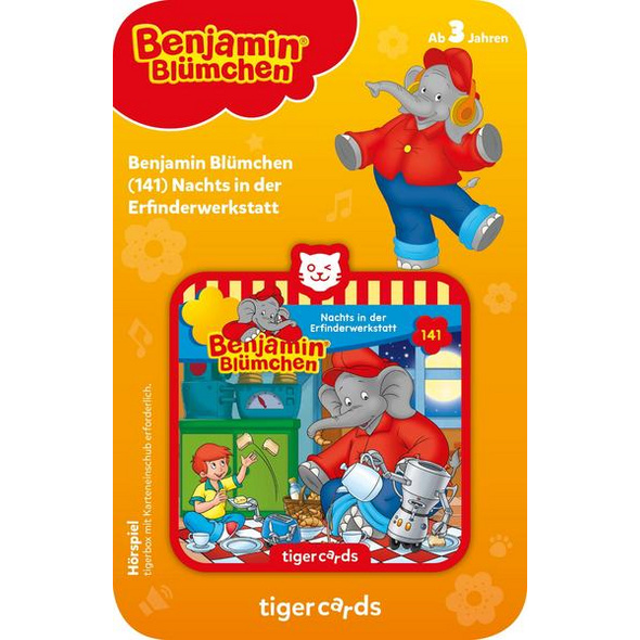 Tigercard - Benjamin Blümchen - Nachts in der Erfinderwerkstatt (Folge 141)