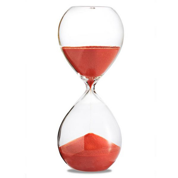 Sanduhr 'Time Out' 4 Stunden, orange