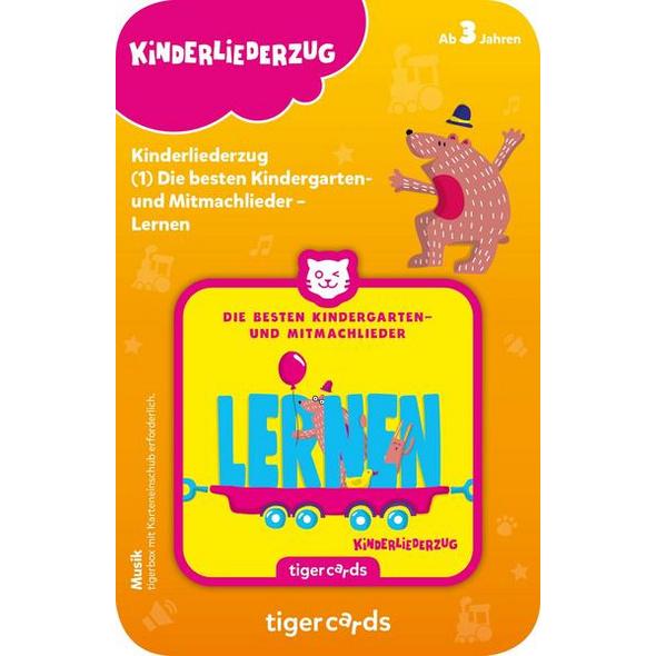 Tigercard - Kinderliederzug - Folge 2: Die besten Kindergarten- und Mitmachlieder - Lernen