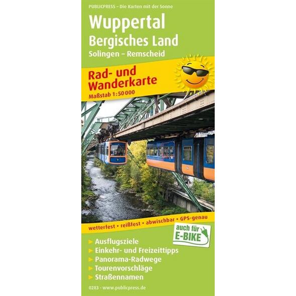 Wuppertal - Bergisches Land, Solingen - Remscheid 1:50 000