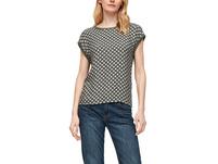 T-Shirt mit Blusenfront - Materialmix-Shirt